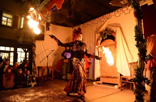Firedancing at the Esslingen Middle Ages Market