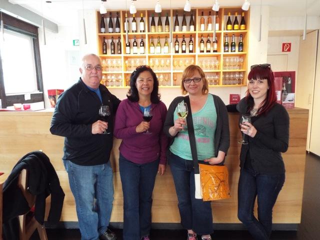 Sampling some ultra-local wne at the Stuttgart wine museum!