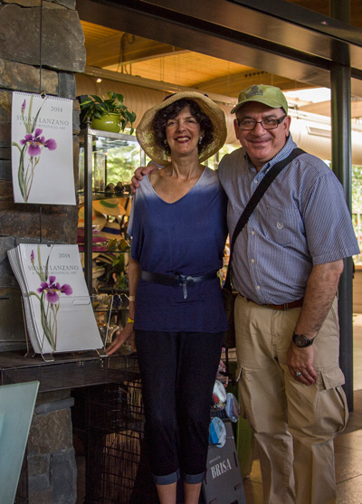 Susan and calendar designer Jerry Gross at the New York Botanical Garden