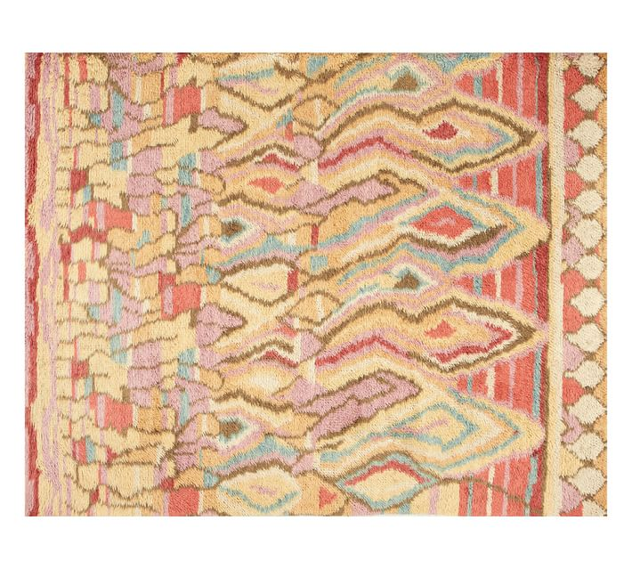Pottery Barn Eleanora rug  that reminds me of the interesting layers found in rock formations