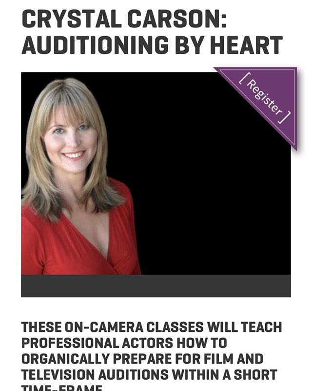 Actors in Atlanta and Los Angeles, I have upcoming classes for you to join! Worldwide actors, please join my virtual class! Register now at CrystalCarson.com