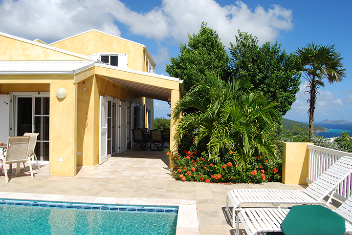 Villa and Pool Deck facing North