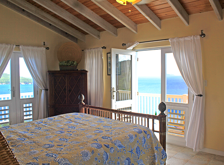 Upstairs Bedroom with Great Views and Deck