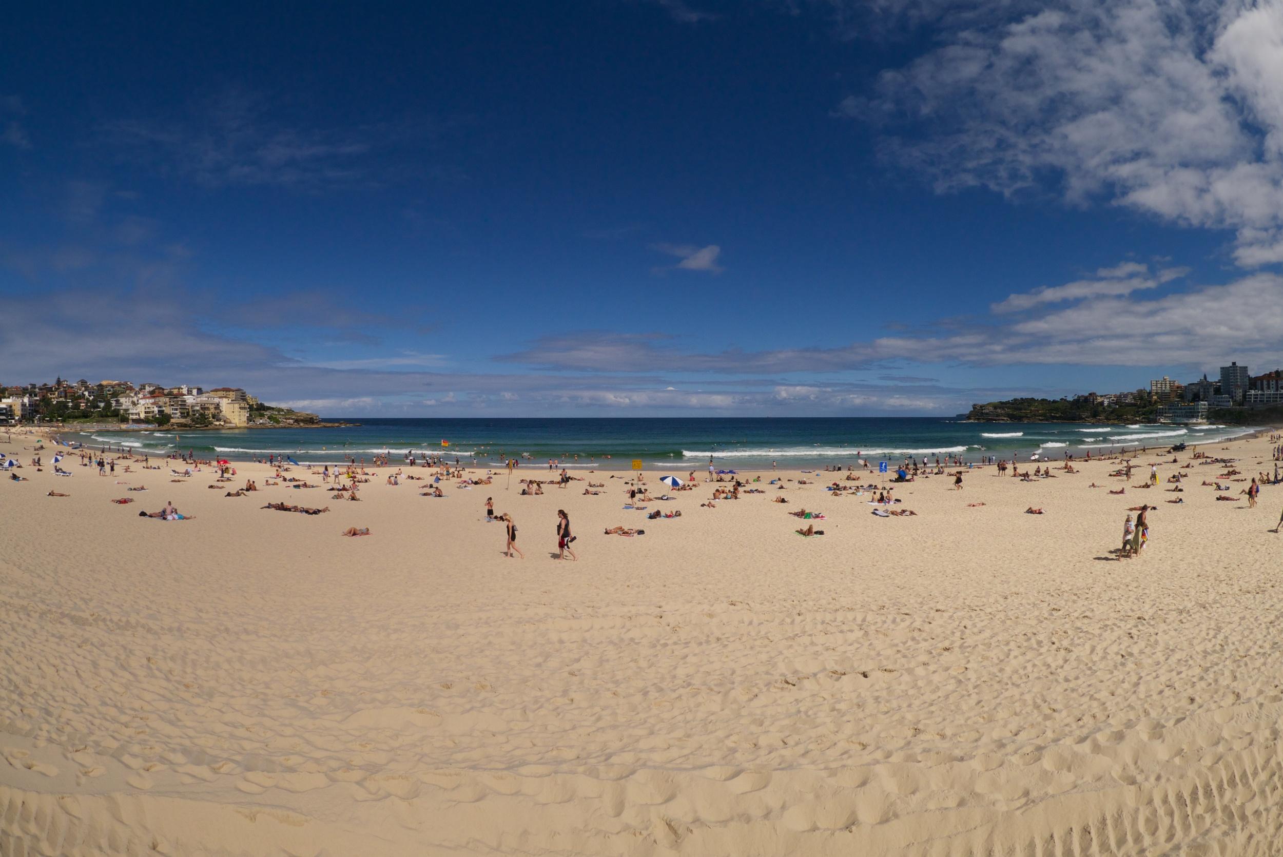 Bondi beach, the preferred destination for post-training relaxation!