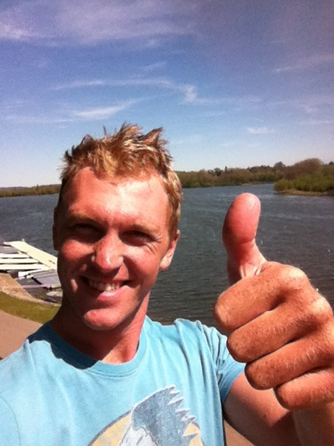 Happy to be back on home water. Caversham lake, cold, windy but still a bit of sun!