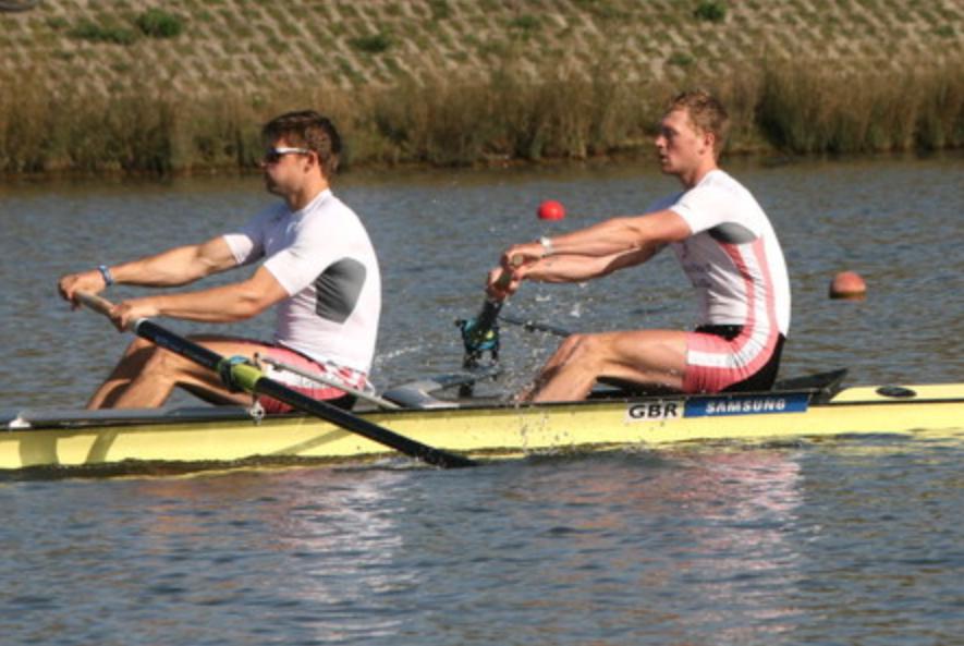 Racing at final trials. We both represent Leander club.