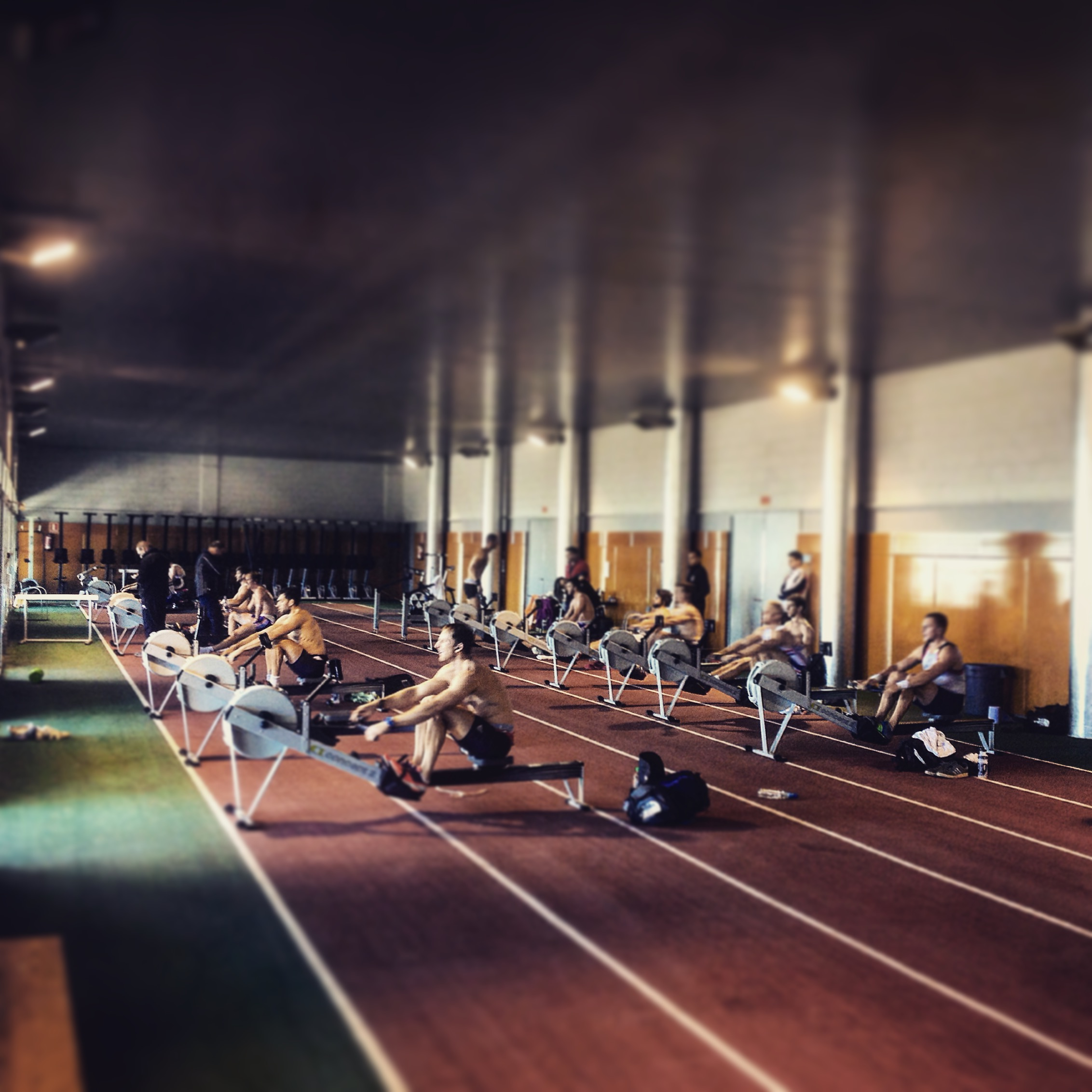 The sweat room, this is where medals are won...