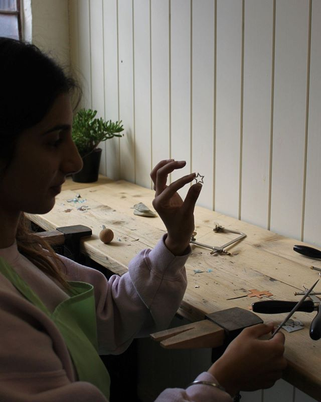 Magical making moments from last weekends earring, pendant & keyring workshop.  We were so impressed with what everyone made ( more pics coming soon & in our stories ). Look at those hand piercing skills!⭐ If you want to join us next time follow the link in our bio to our jewellery classes to book.