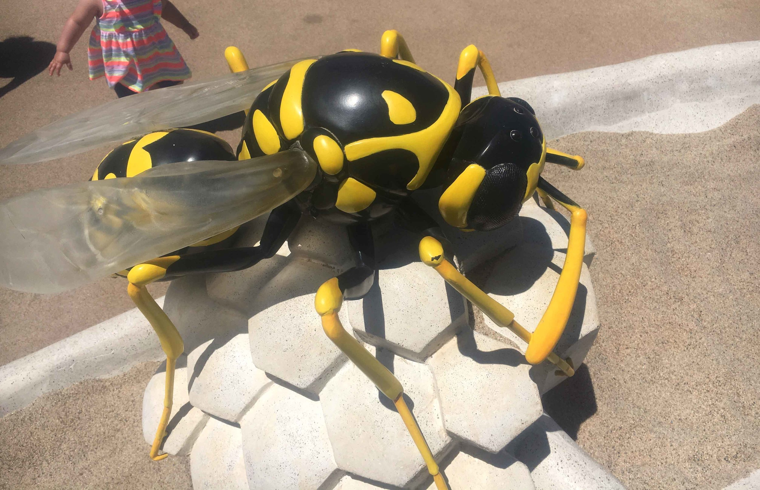 Yellow Jacket Sculpture