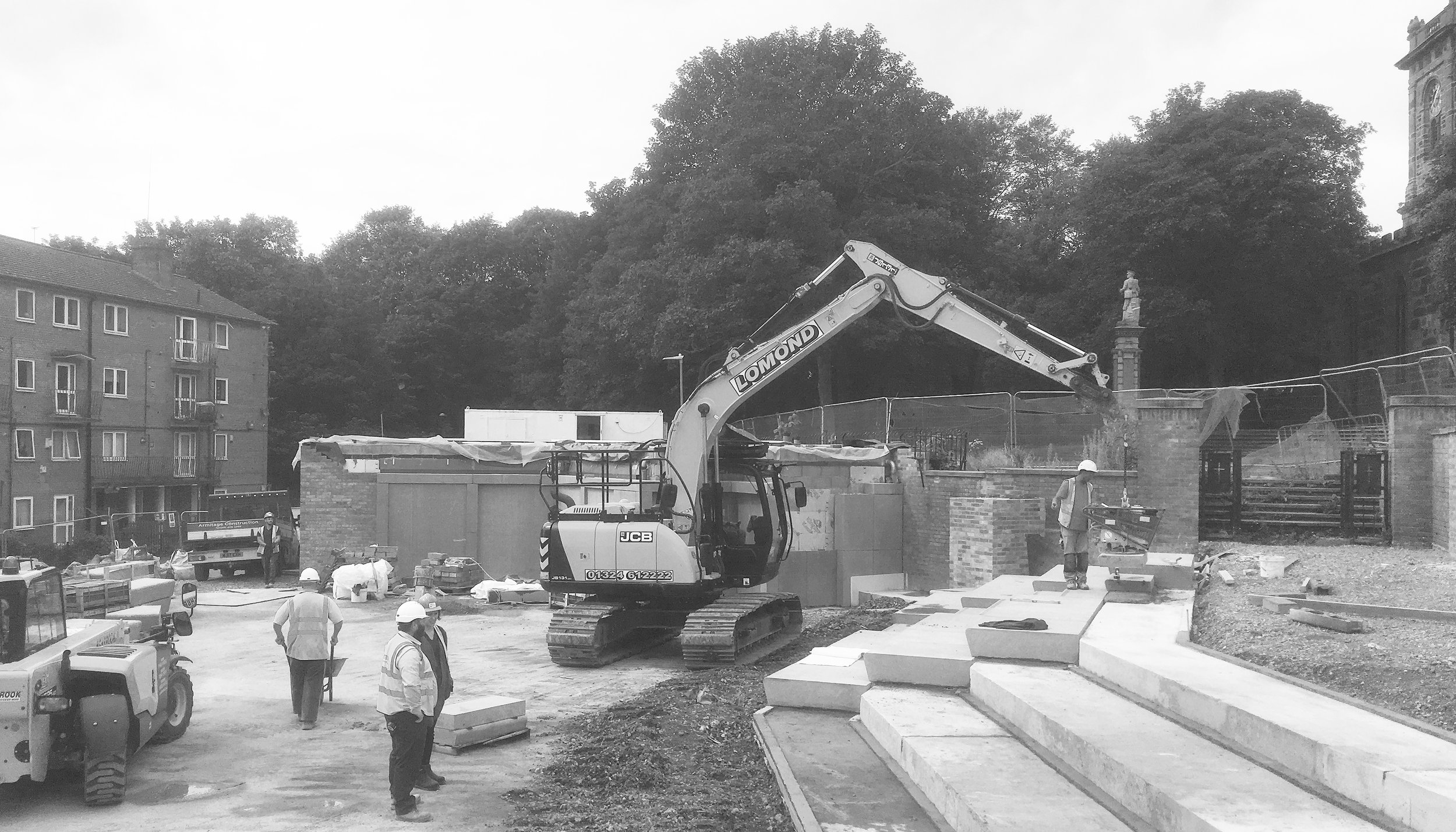 Site progress, August 2019