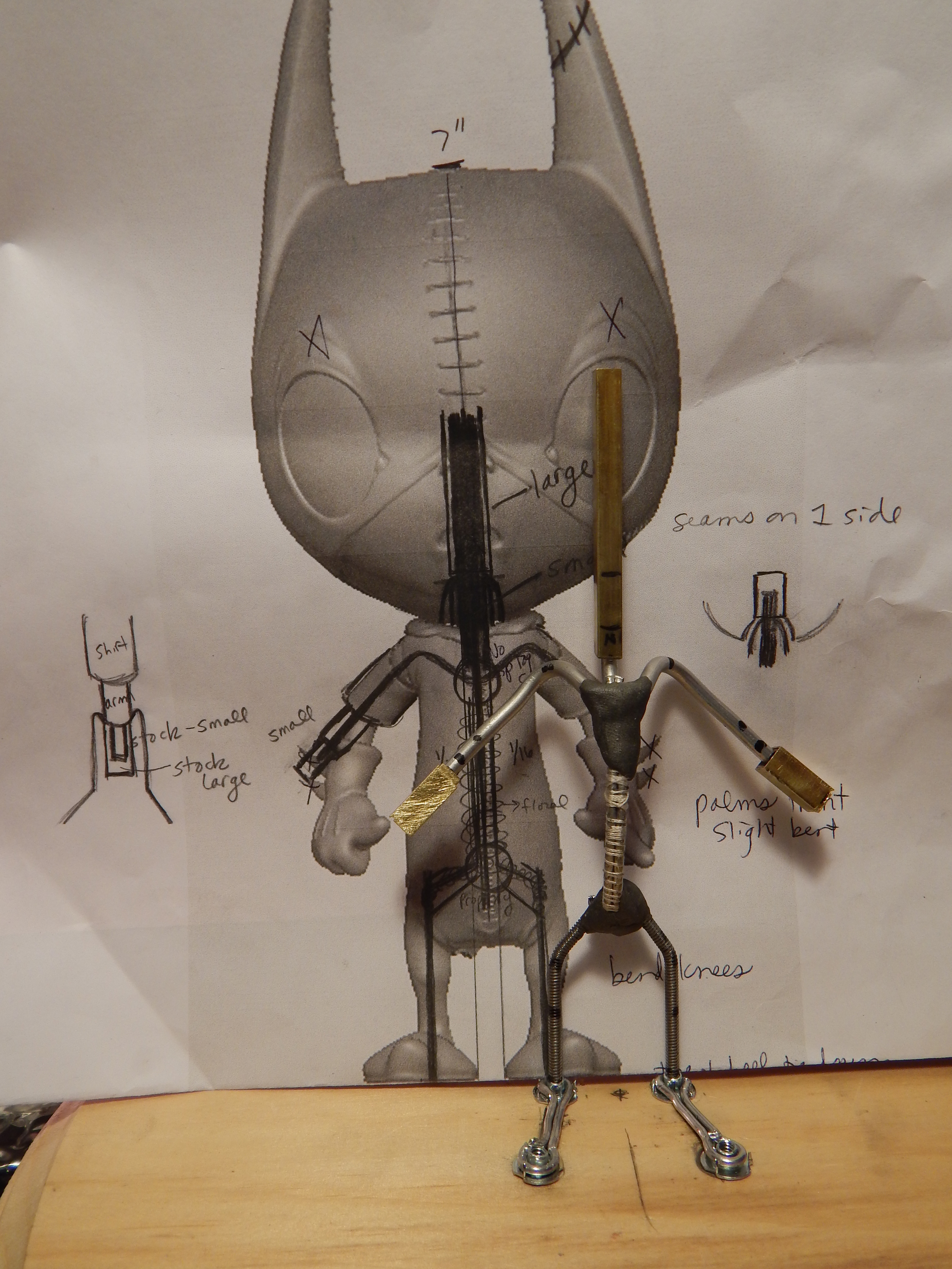 Ralf's armature (his skeleton).