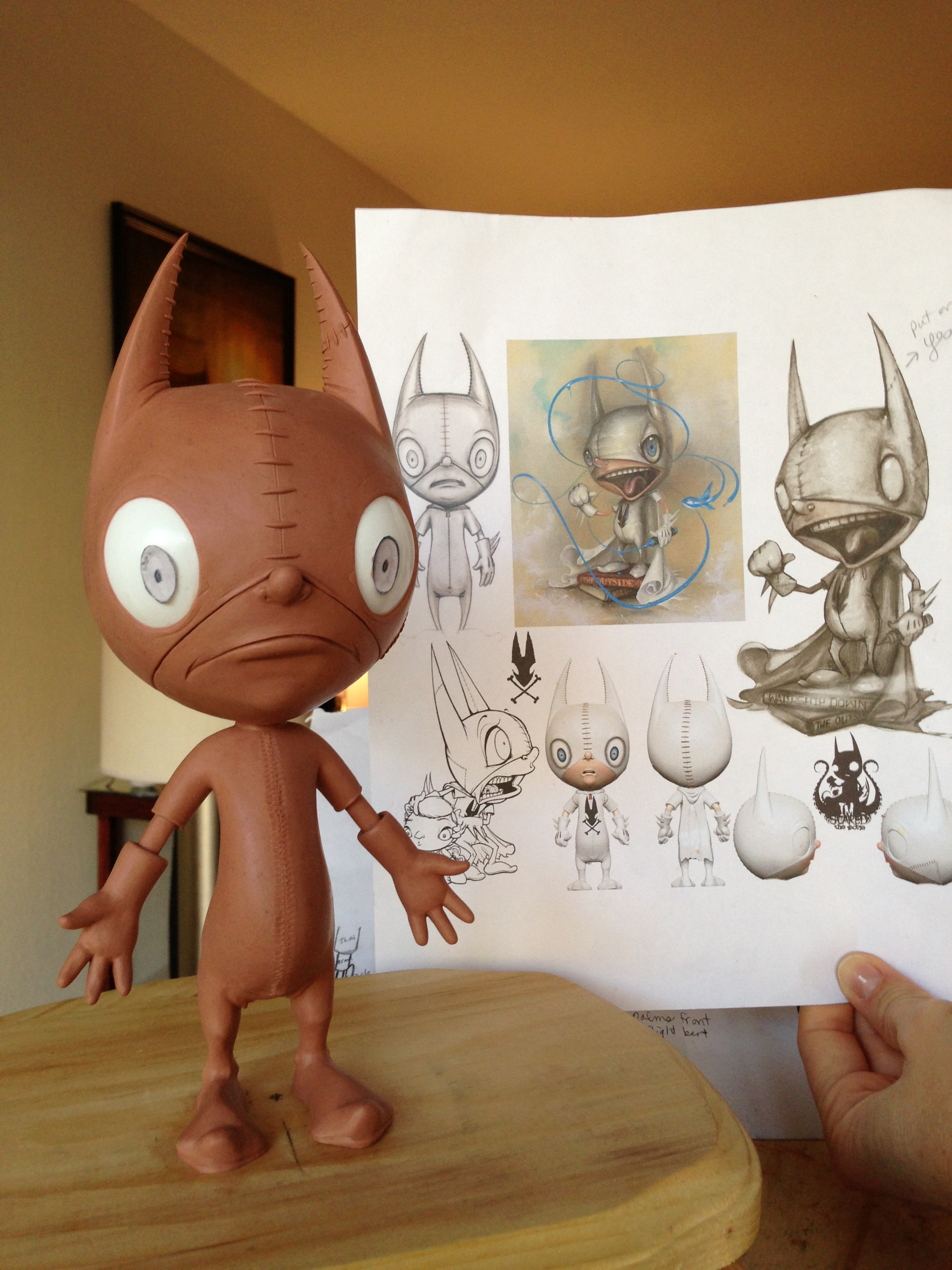 Ralf's sculpt compared to sketches and the vinyl toy design.