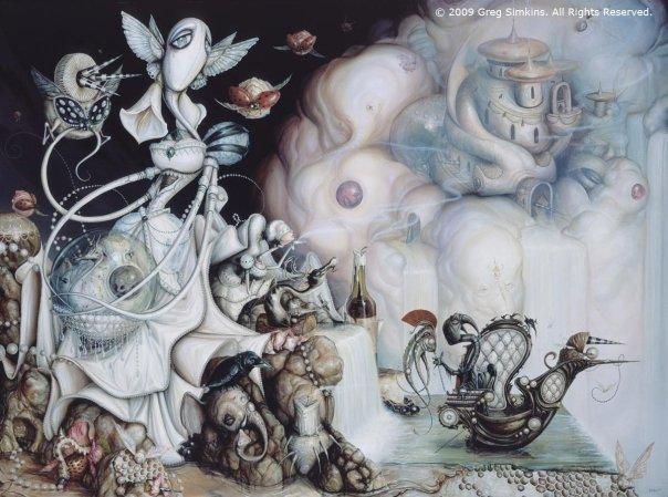 Greg Simkins,  The Pearl Thief,  2009. Acrylic on canvas