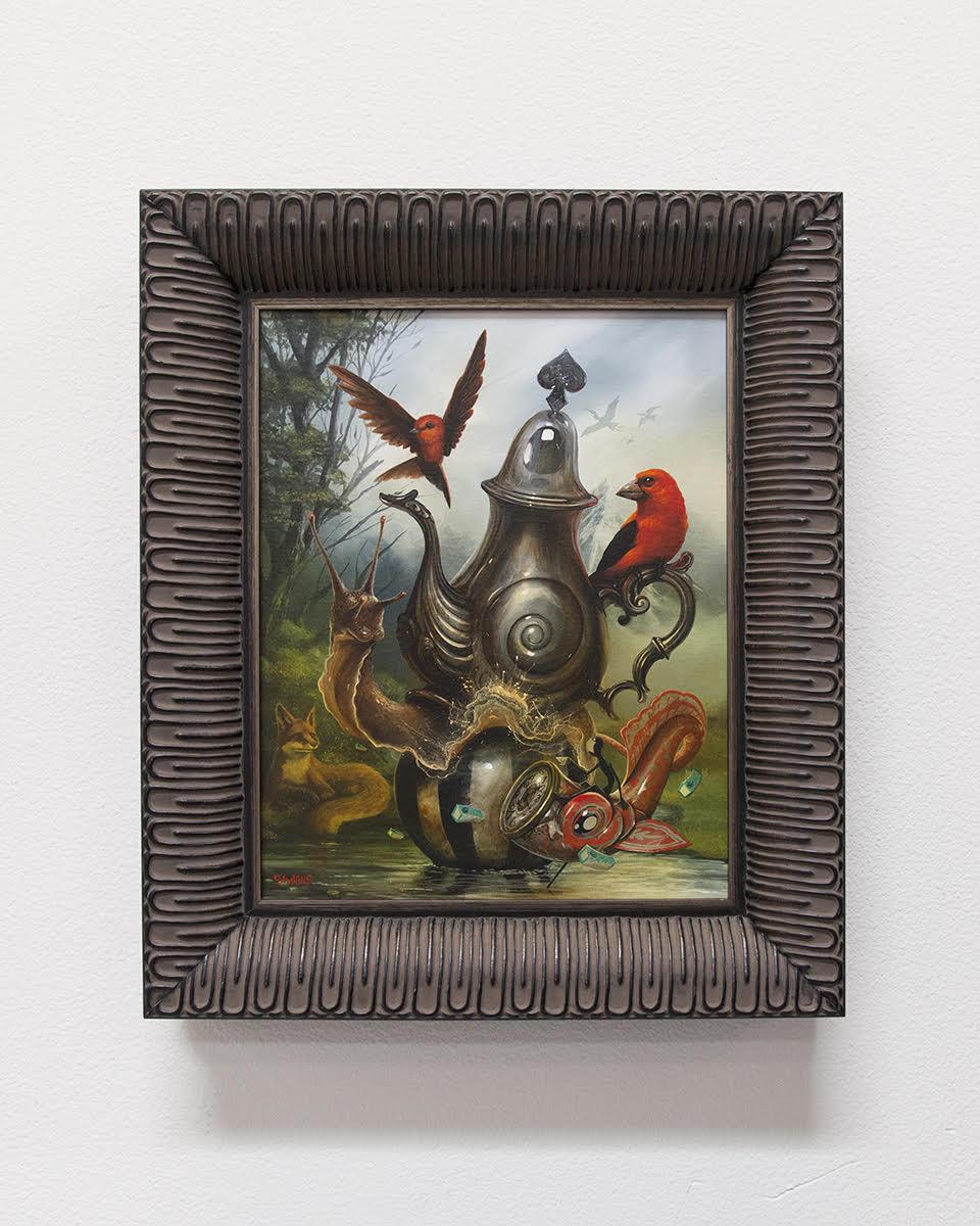 """The Tea Bringer   20"""" x 16"""" Acrylic on Canvas"""