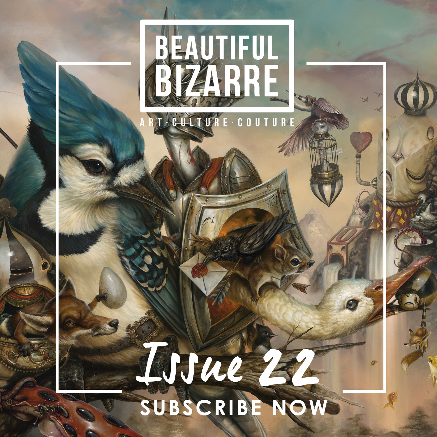 I'm honored be featured in the September issue of Beautiful Bizarre Magazine! Available for pre-order NOW! Over 40 artists, 140 pages for just $13.49 for a limited time!