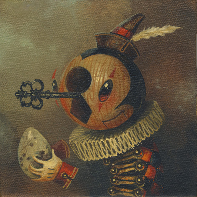 "Keynan Gives Back  5 x 5 in. Acrylic on Canvas Greg ""CRAOLA"" Simkins, 2015"