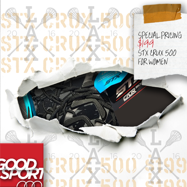 Great price on the STX CRUX 500 lacrosse stick!