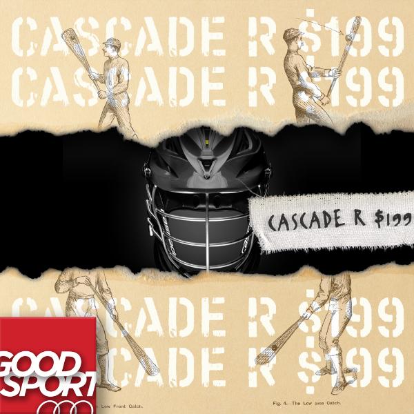 The industry standard lacrosse helmet for men, Cascade R.