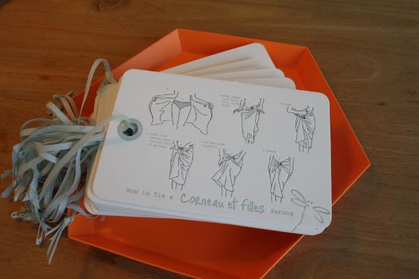 How to tie a Corneau et Filles sarong