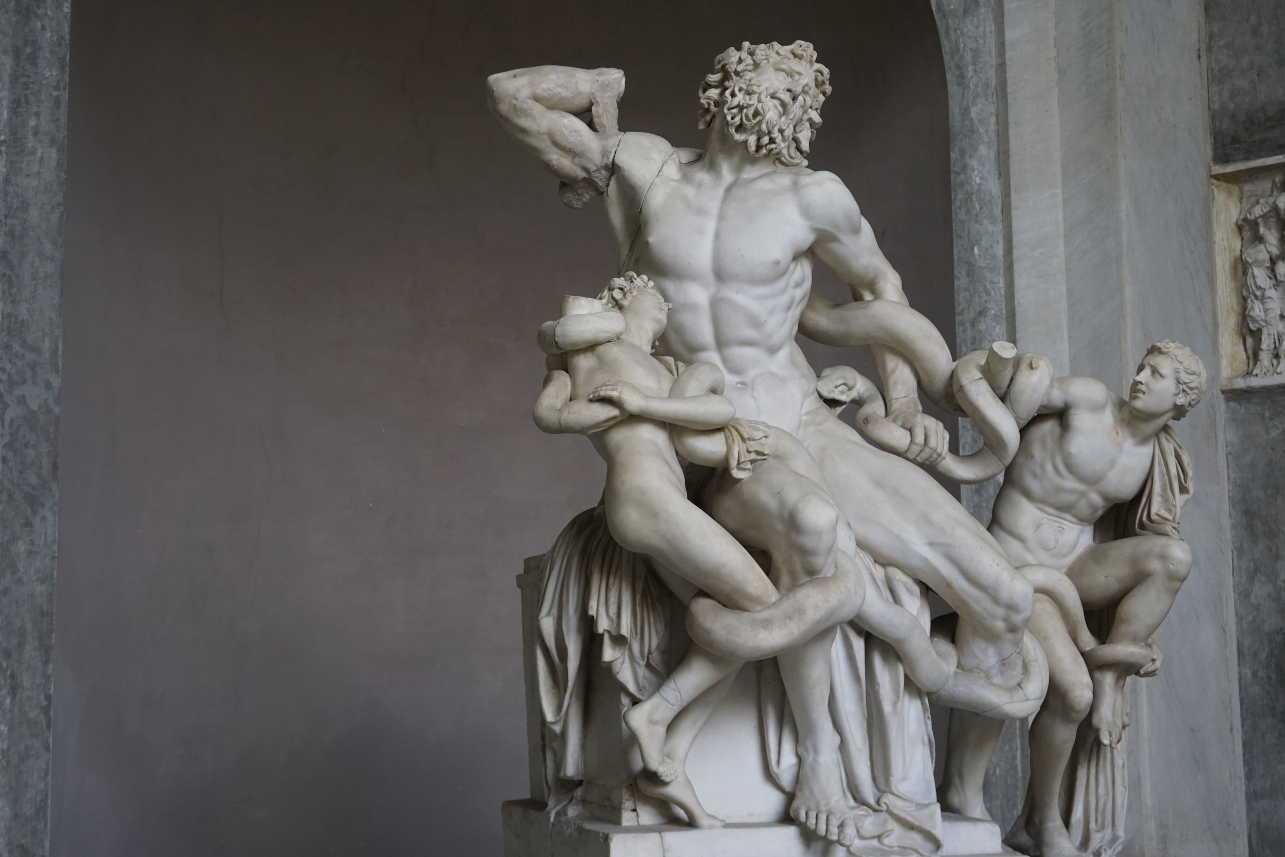 Laocoon and his two sons at the Vatican museums. © 2016 David Harrop
