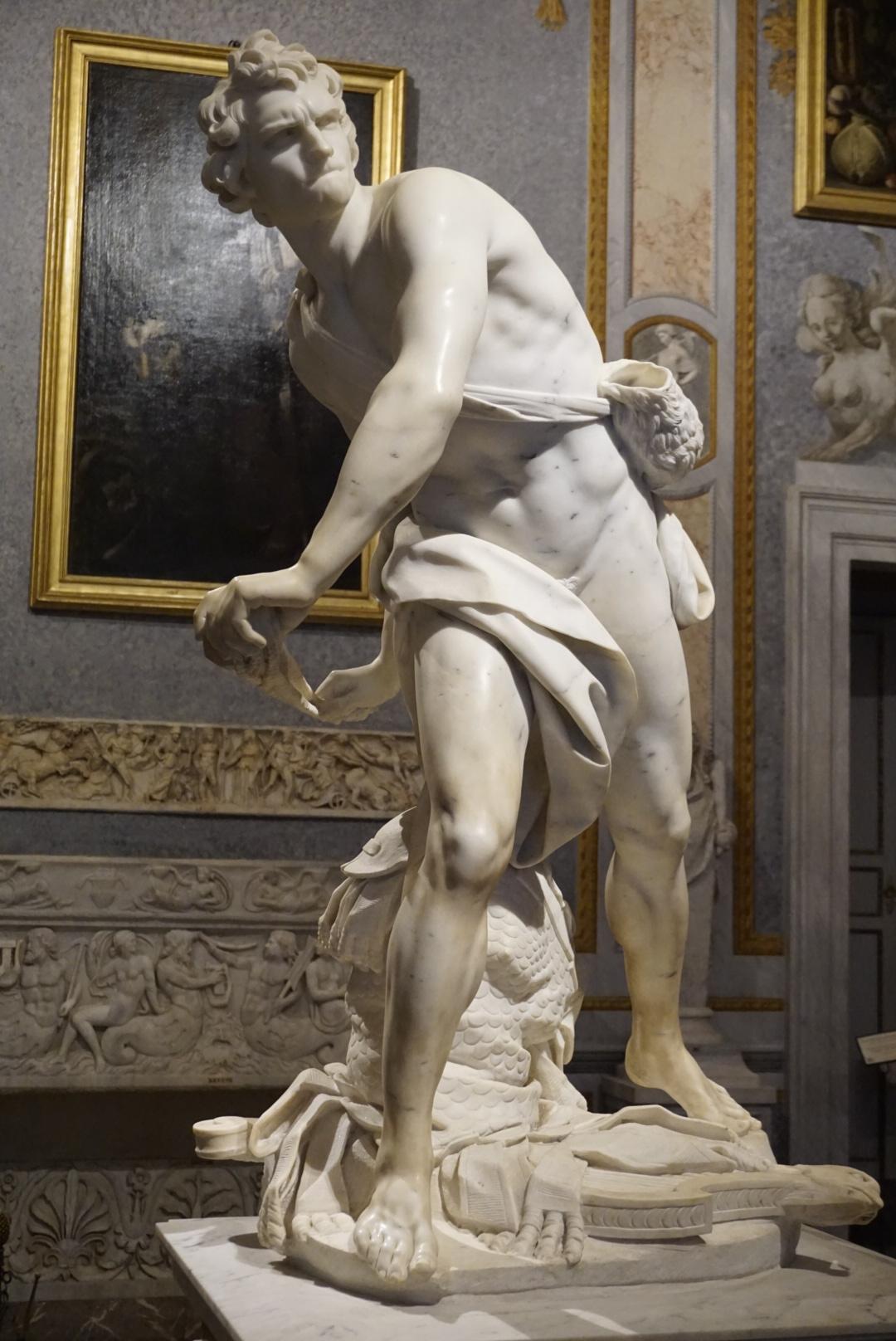 David by Bernini at the Villa Borghese