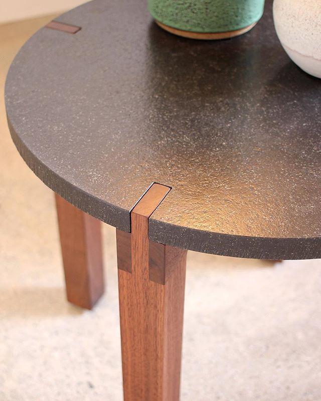 Fig table detail . . . . . . #primitivedesign  #madeinlosangeles #designmeariver #sidetable #absoluteblackgranite #figsign