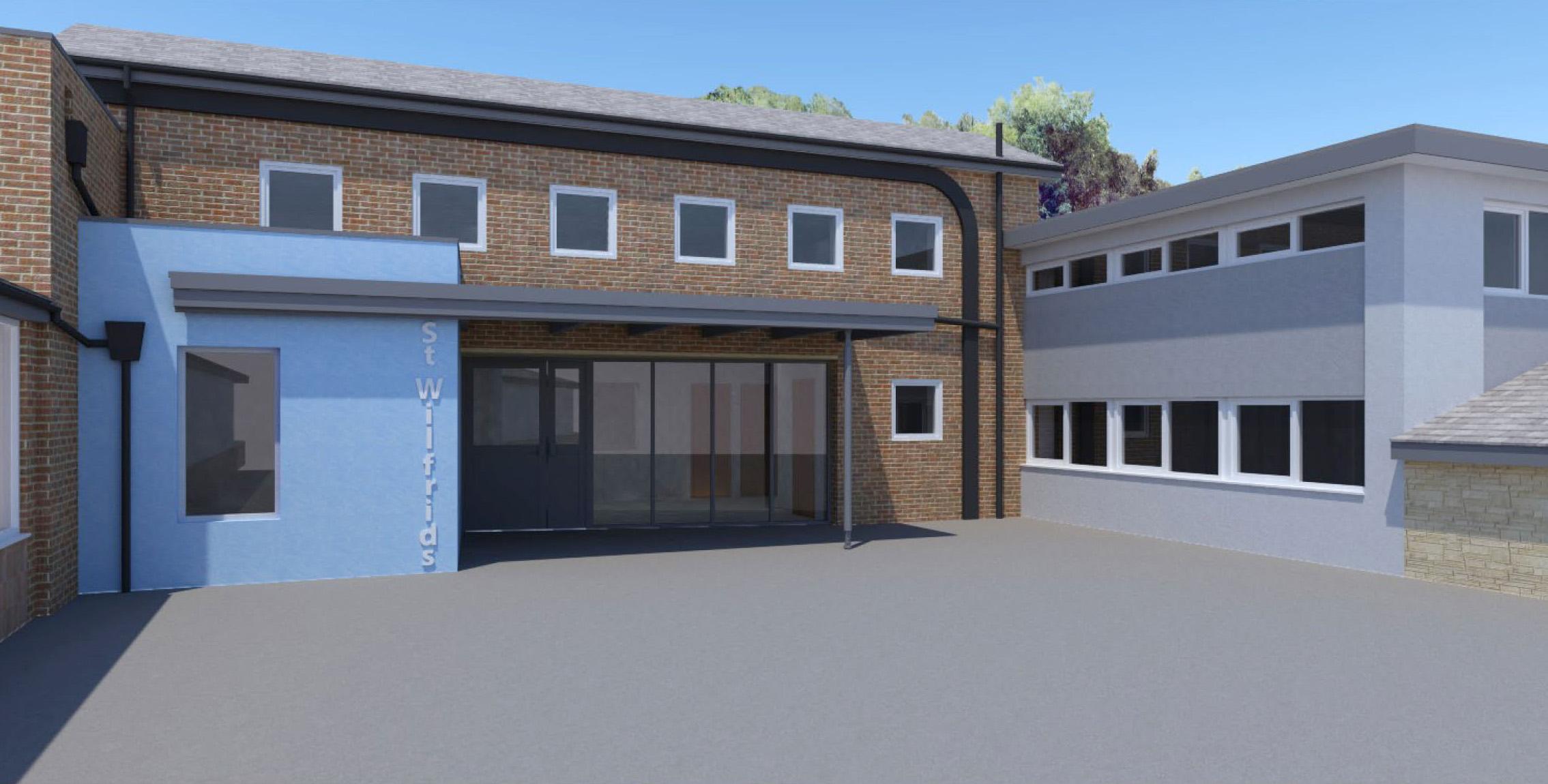 Social: St Wilfrid's Extension, new Entrance