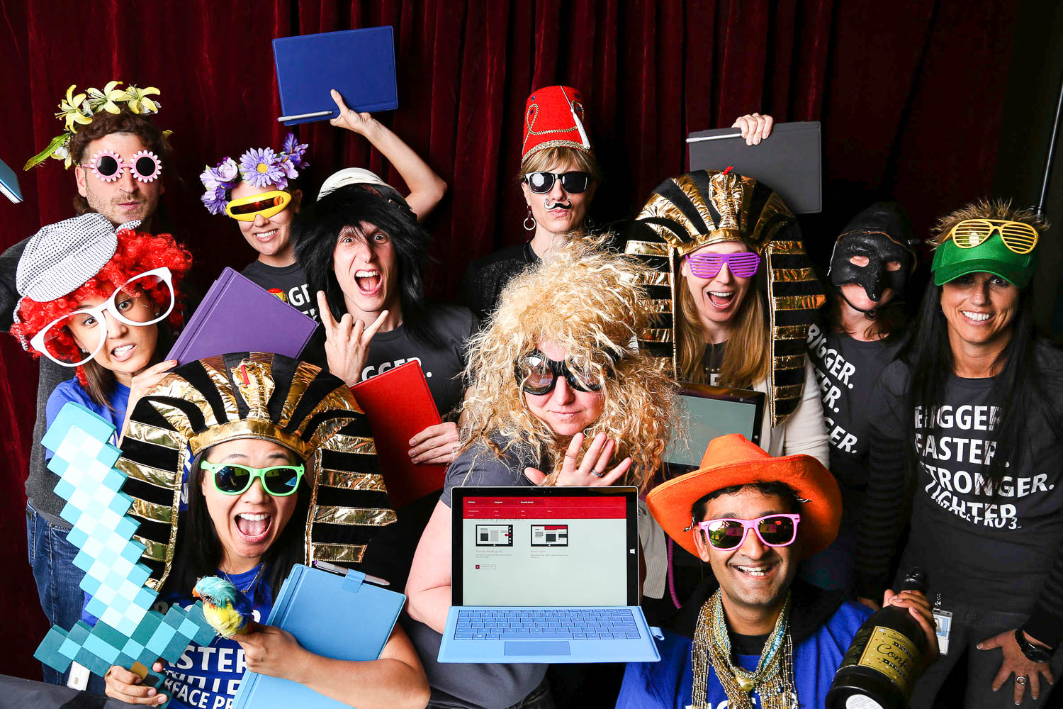 photo booth at Microsoft corporate party