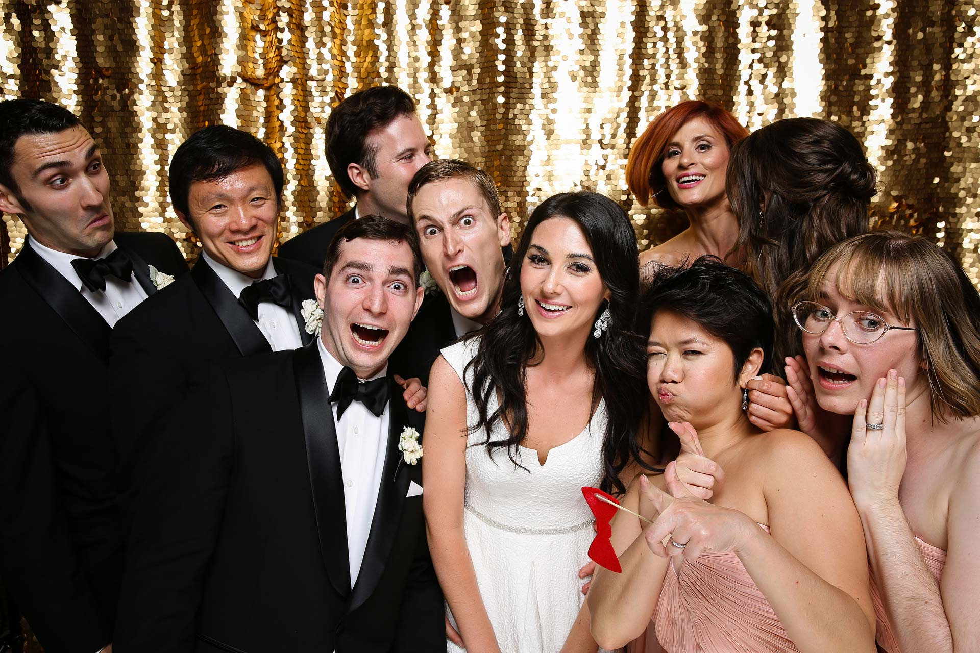 bridal party wedding photo booth sonoma