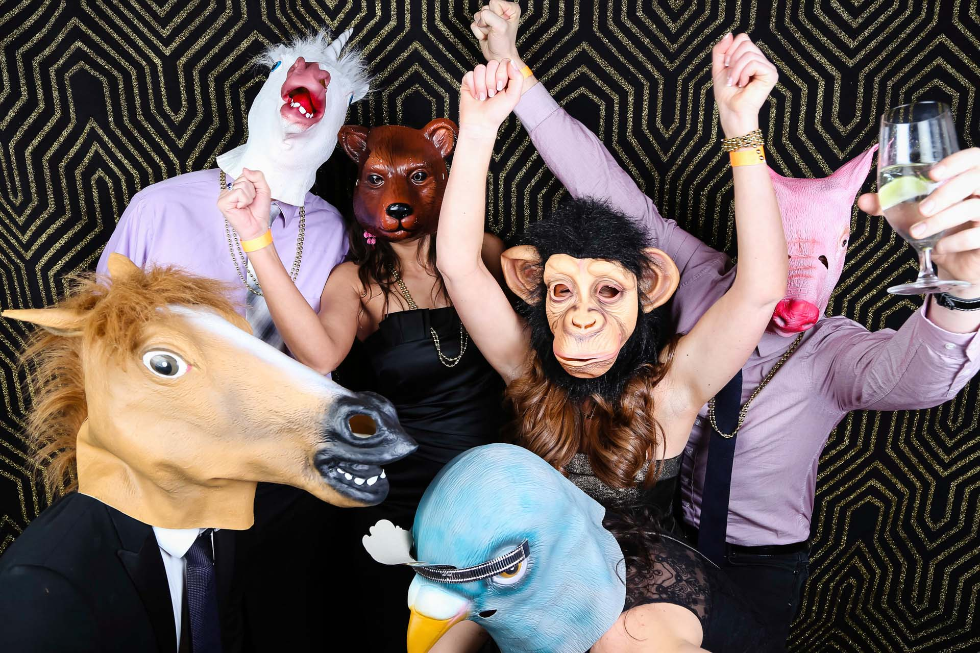animal head photo booth props