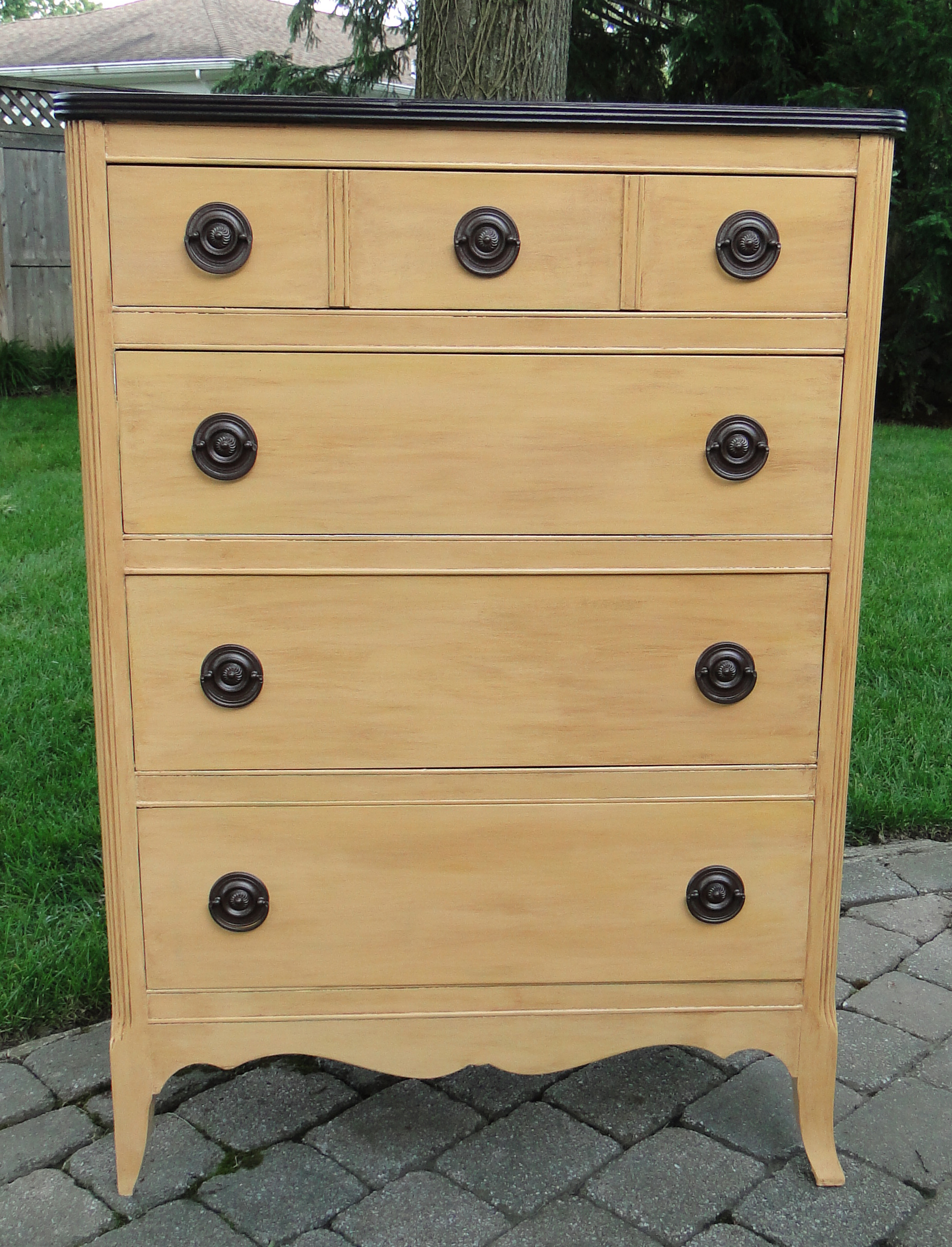 Full front view of dresser