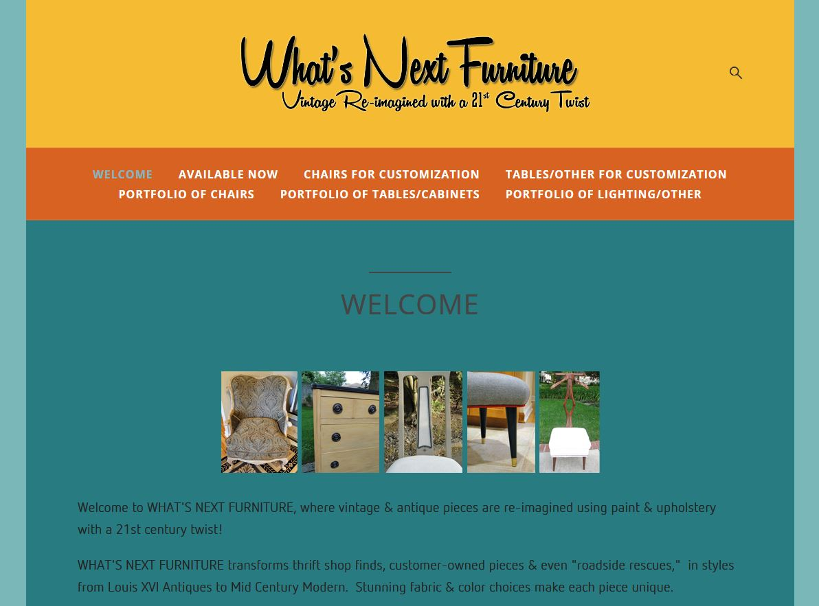 Welcome page of new web site (early August 2013)