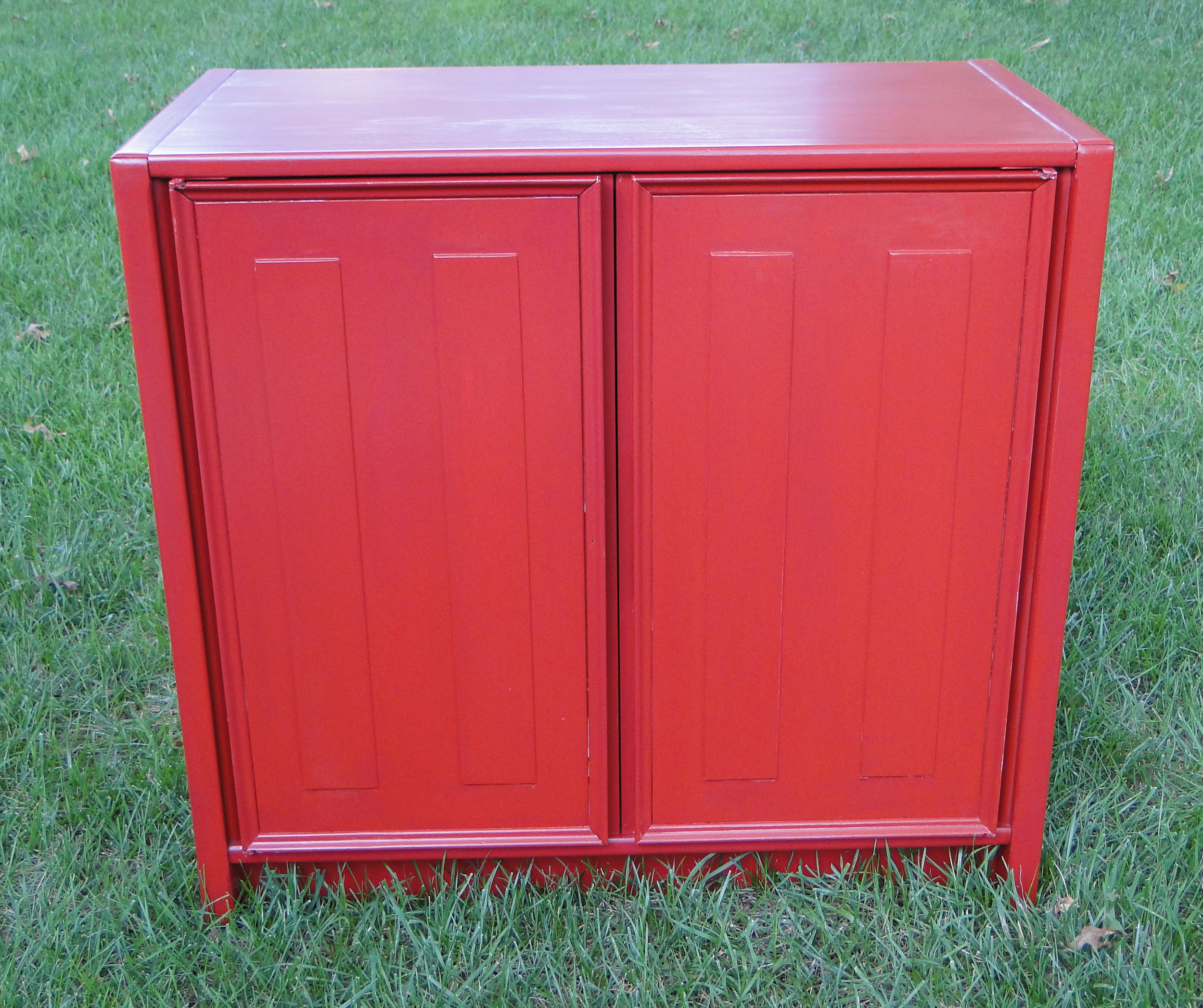 """After"" photo of painted cabinet"