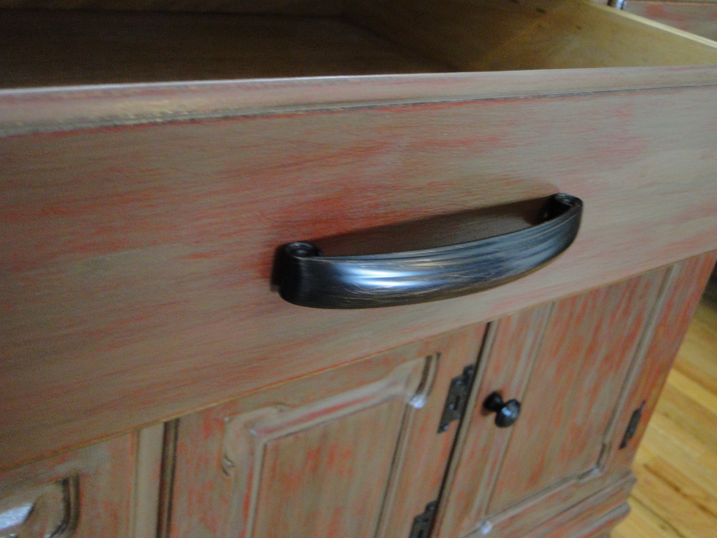 Close up of drawer handles