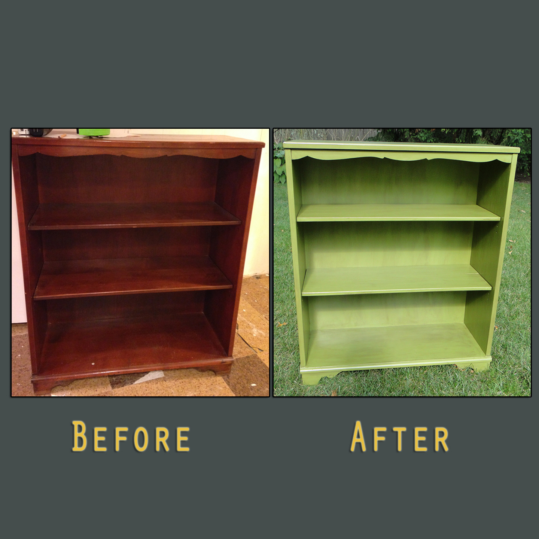 Green bookshelf Jessica before after square grey.jpg