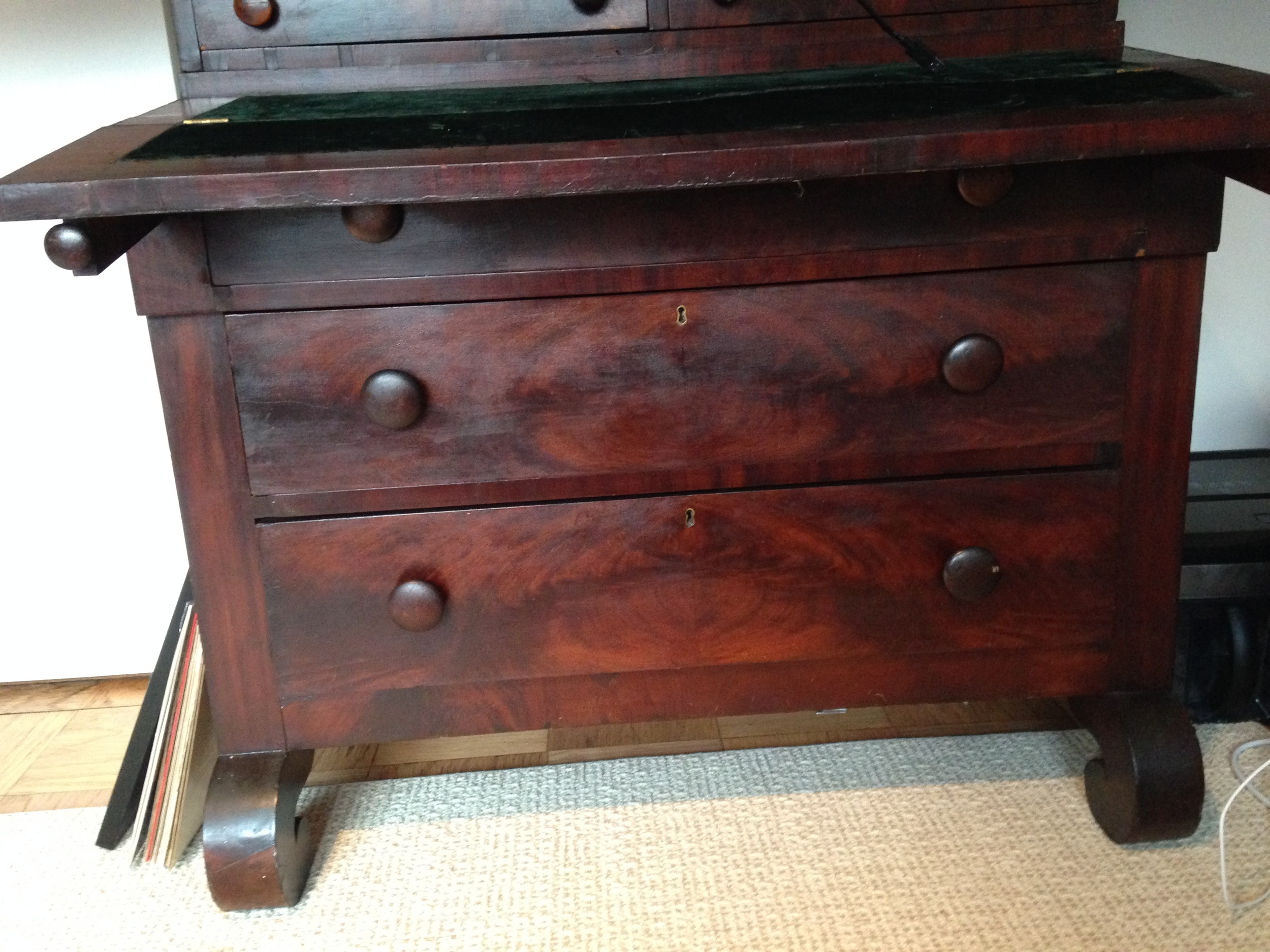 """""""Before"""" close up of drawers"""