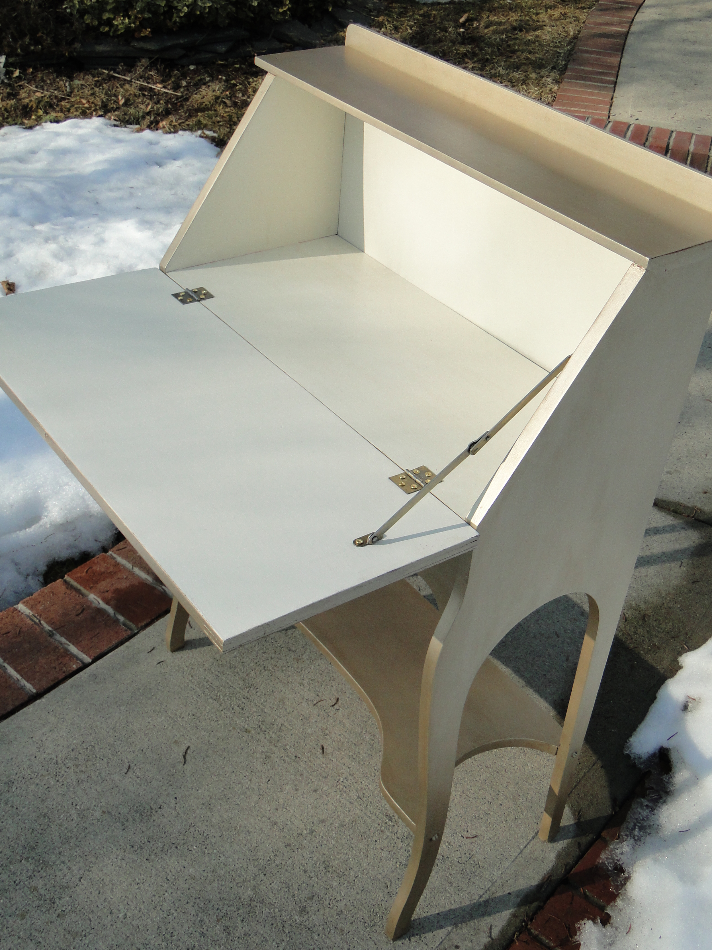 View of interior in creamy off-white