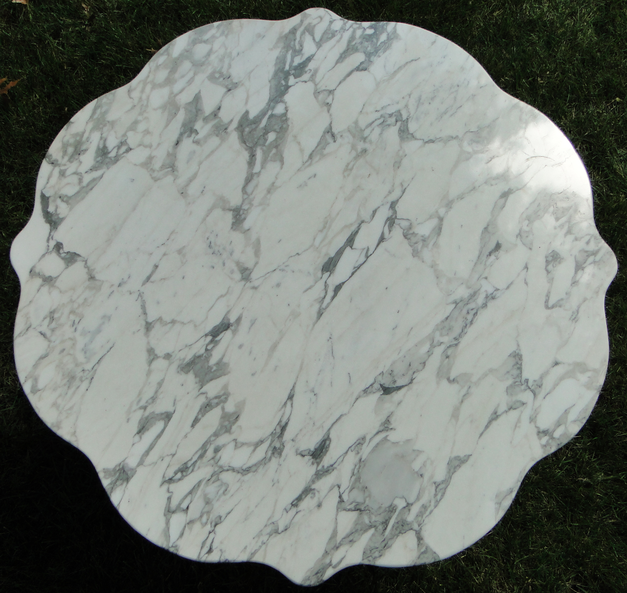 Shape of marble top, view from above