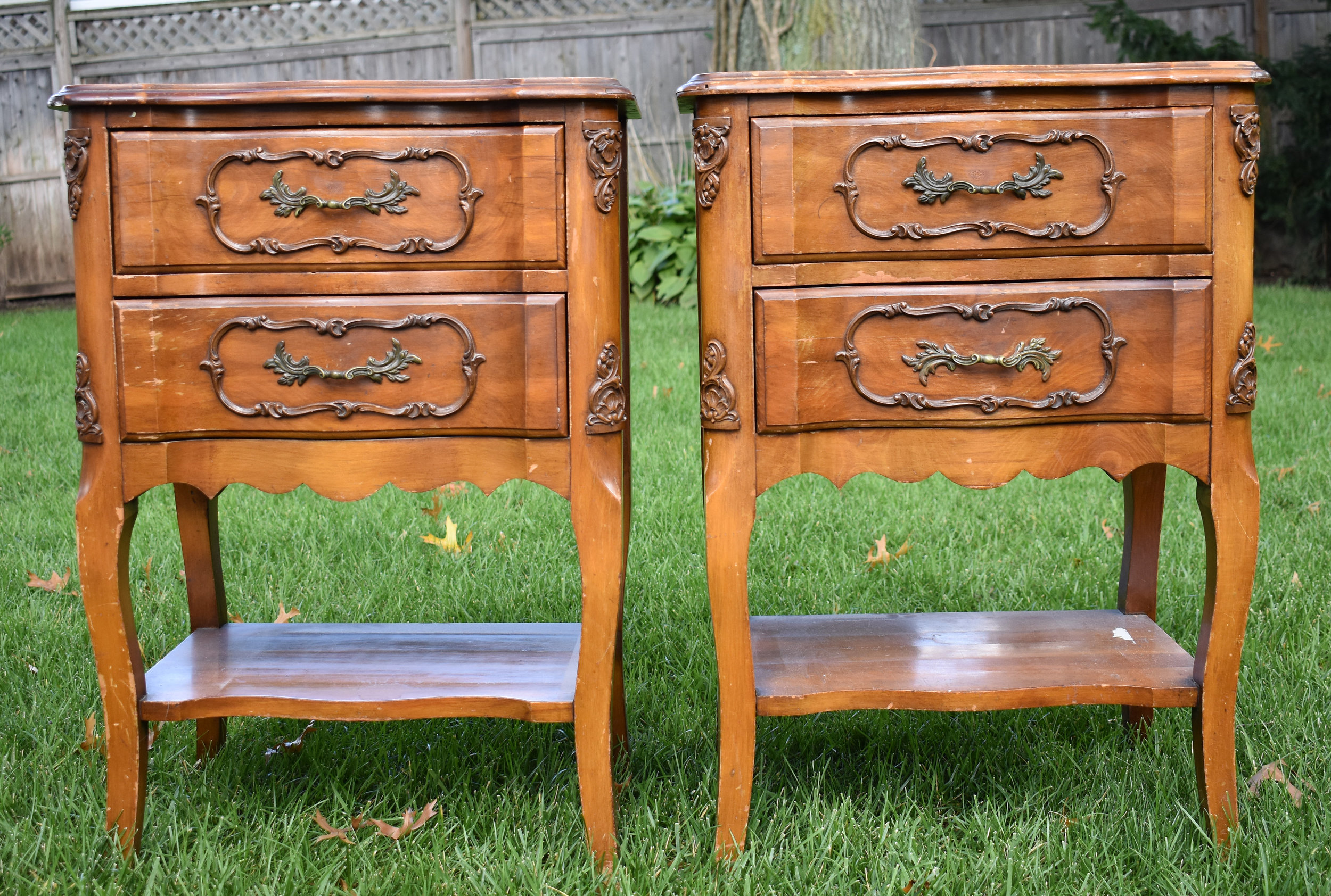 """""""Before"""" view with original finish"""