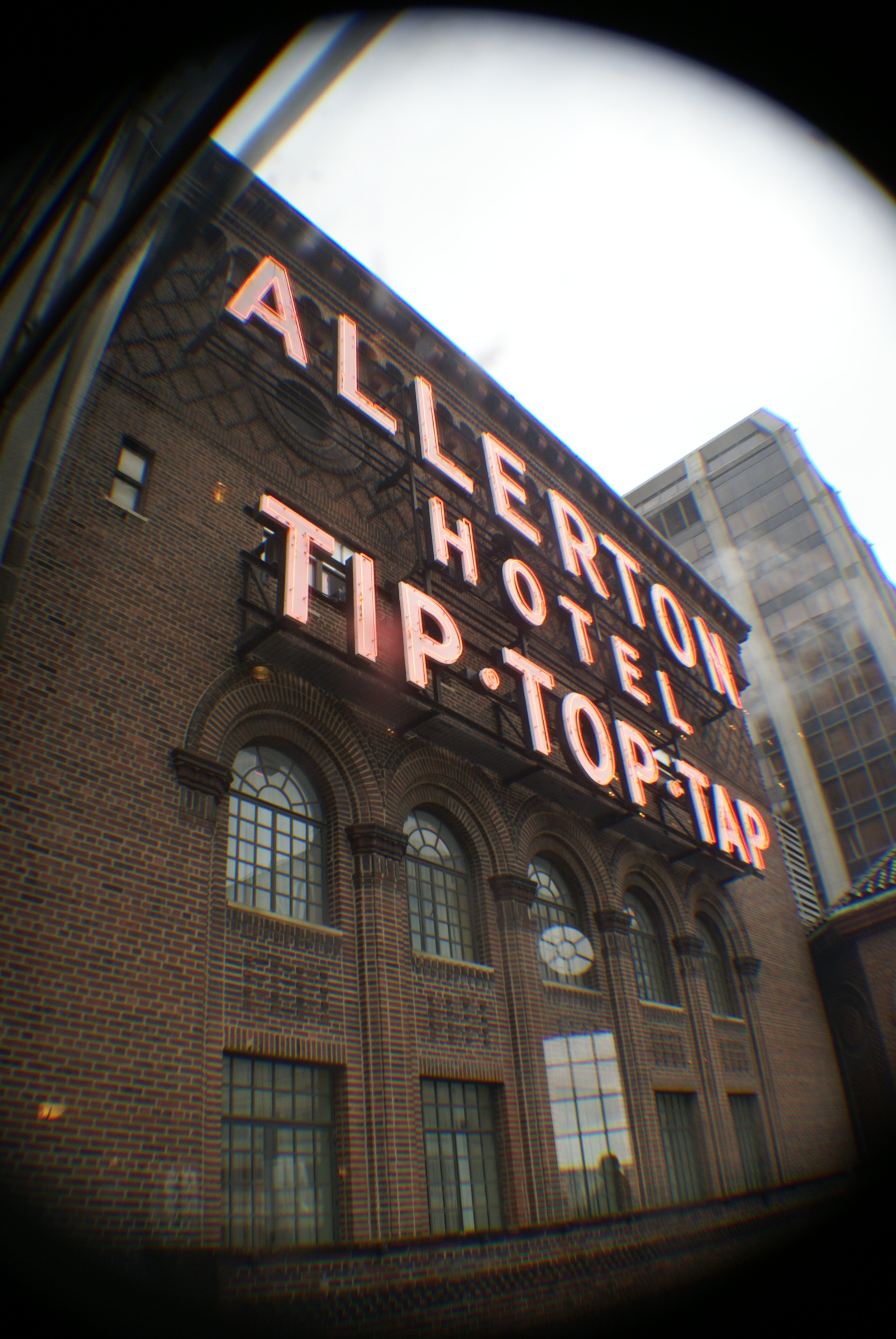 Top Top Tap Neon Sign @ The Allerton Hotel, HC