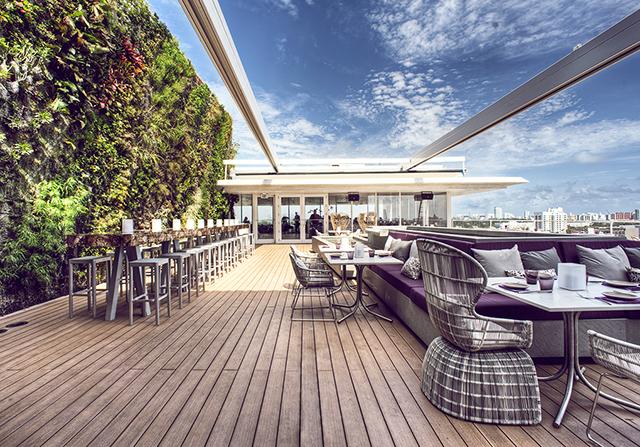 Juvia Penthouse Restaurant in Miami Beach