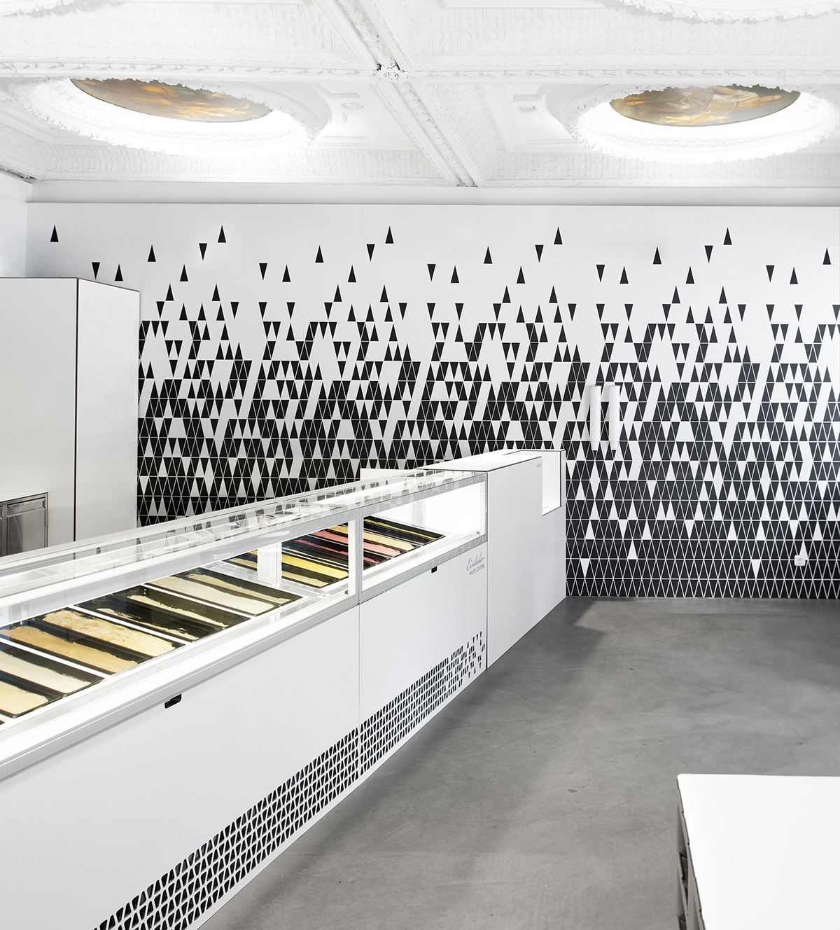 Eisdieler Ice Cream Parlor Interior Design Modern Linz Germany