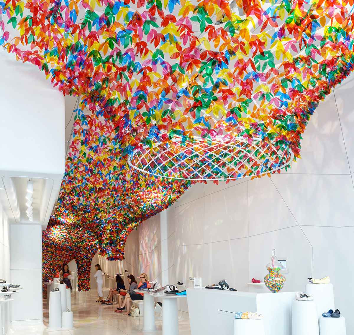 We Are Flowers Installation at Melissa by Softlab NYC