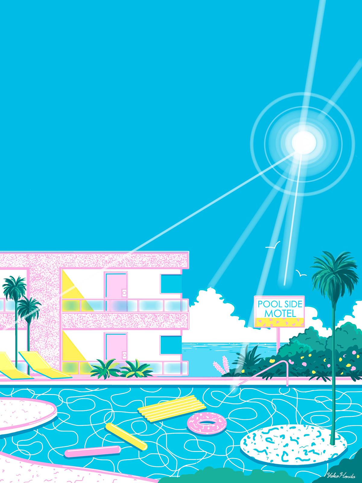 Artist Yoko Honda creates 80's inspired art