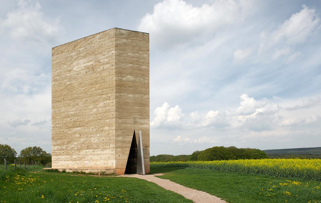 Bruder Klaus Field Chapel in Mechernich, Germany by   Peter Zumtho  r   .