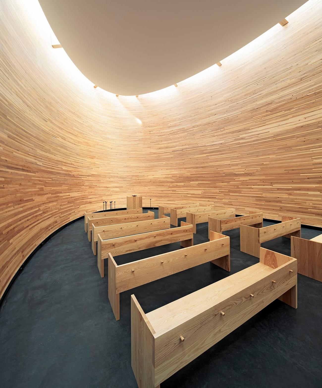 Kamppi Chapel in Helsinki Finland by   K2S Architects Ltd  .