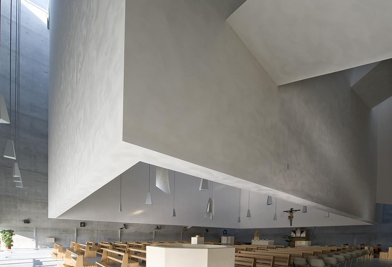 The New Church in Foligno, Italy by  Massimiliano & Doriana Fuksas  .