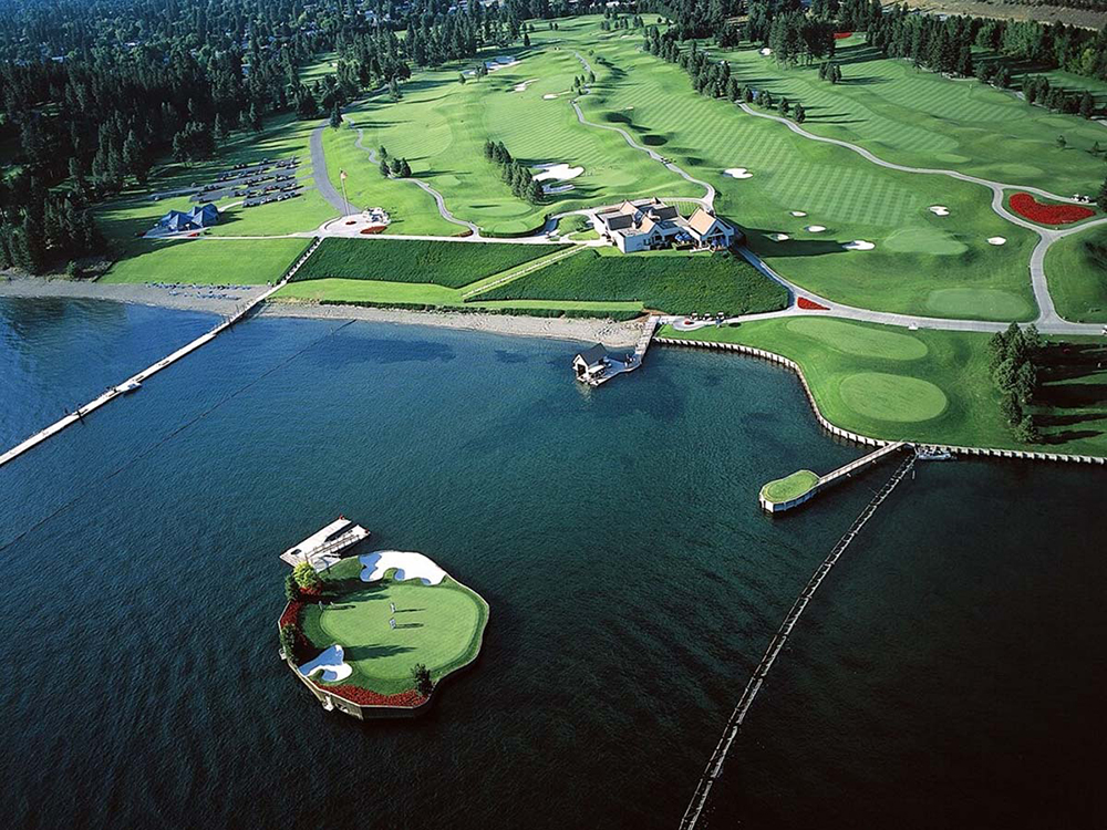 Floating Golf Course at Coeur d'Alene Resort by Duane Hagadone in Idaho
