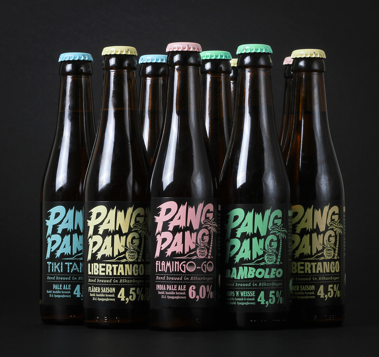 PangPang Brewery in Stockholm packaging design by Snask