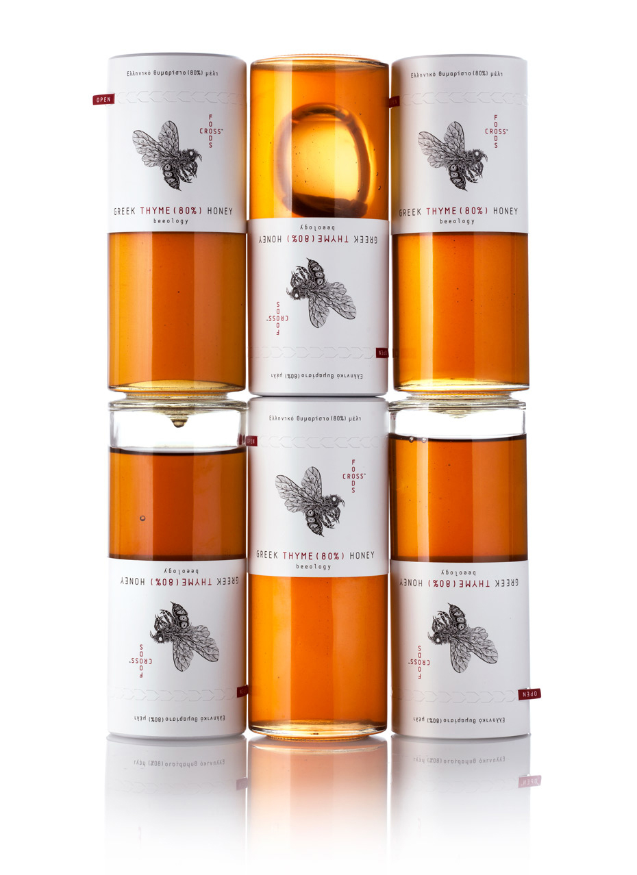 Foodscross Premium Greek Honey packaging design by Mousegraphics